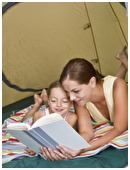 Here's a list of great books to take on your next camping trip with your family.