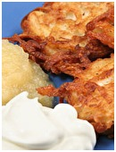 Here's a traditional recipe for potato latkes that your family is sure to enjoy this holiday season: