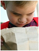 Bored packing the same PB&J sandwich in your child's lunch?  Your child is probably bored with eating it, too.  Here's how to add some zazz to the brown bag.