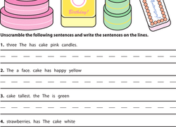 Worksheets Second Grade Grammar Worksheets 2nd grade grammar worksheets free printables education com reading writing worksheet scrambled sentences crazy cakes