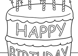 Worksheet Birthday Cake Coloring Page