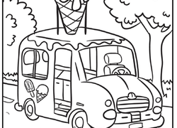 transportation coloring page ice cream truck