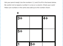 image relating to Kenken Printable identify KenKen Match: Minimal Turtle Worksheet