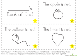 The Color Red | Worksheet | Education.com