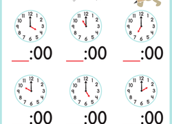 Worksheet. Telling Time With Melissa Mouse 2