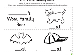 my word family book at words worksheet education com