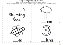 My Rhyming Book: -Ee | Worksheet | Education.com