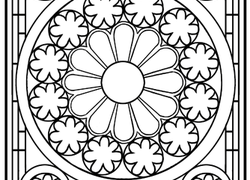 2nd grade worksheet stained glass mandala - Coloring Pages For 2nd Graders
