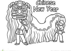 chinese new year dragon coloring page - Chinese New Year Coloring Pages
