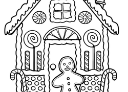 worksheet gingerbread house coloring