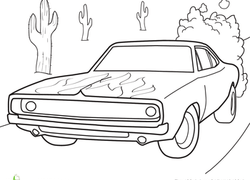 Dodge Charger Coloring Page | 132x184