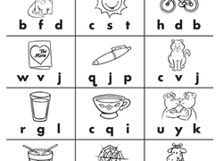 Initial sounds- Activity Sheet 1, English skills online ...