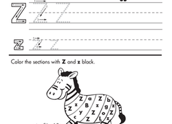 kindergarten writing worksheets  educationcom worksheet practice writing z