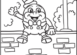 Humpty Dumpty coloring page | Free Printable Coloring Pages | 180x250
