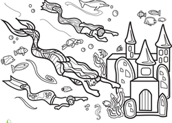 Color The Marvelous Mermaid 5