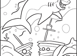 Shark Coloring Pages Printables Educationcom - Shark-color-pages