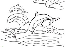 Dolphin Coloring Pages & Printables | Education.com