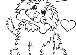 cute dog coloring page - Free Animal Coloring Pages
