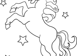 unicorn coloring page - Preschool Animal Coloring Pages