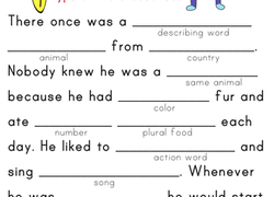 Worksheets 1st Grade Grammar Worksheets 1st grade grammar worksheets free printables education com reading writing worksheet fill in a funny story 5