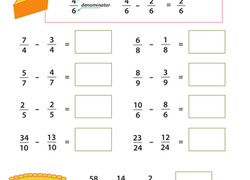 rd grade fractions worksheets  free printables  educationcom rd grade math worksheet introducing fractions subtracting fractions