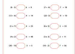 order of operations worksheets  free printables  educationcom worksheet parentheses first find the missing operation