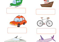 All About Transportation: Air, Water, or Land? | Worksheet ...