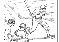 Baseball Coloring Pages & Printables | Education.com