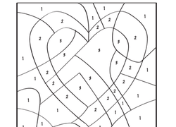 image relating to Preschool Valentine Printable Worksheets named Valentine Shade-As a result of-Variety Worksheet