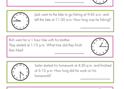 3rd Grade Time Worksheets & Free Printables | Education.com