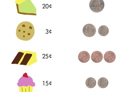 kindergarten money worksheets  free printables  educationcom kindergarten math worksheet bake sale