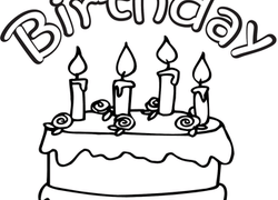 Color The Happy Birthday Cake