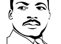 graphic relating to Martin Luther King Jr Coloring Pages Printable titled Martin Luther King Jr. Worksheet