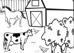 First Grade Places Worksheet Farm Coloring Page