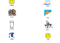 identifying opposites  educationcom kindergarten reading  writing worksheet identifying opposites from  happy to full