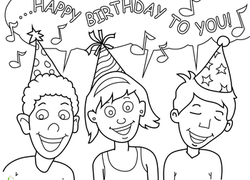A Birthday Party Preschool Worksheet Coloring Singing Friends