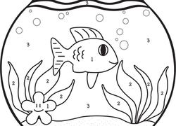 Color By Number Coloring Pages Printables Education Com