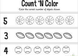 kindergarten math worksheets  free printables  educationcom kindergarten math worksheet count n color the numbers