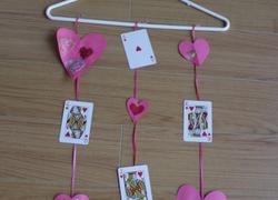 1st grade activity valentine mobile