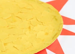 Preschool Reading & Writing Activities: Paper Plate Art: Sunny Side Up!