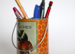Make A Magnetic Spice Tin Pencil Holder