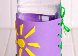 Middle School Arts & Crafts Activities: Water Bottle Holder Craft