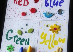 preschool colors activity create a color collage