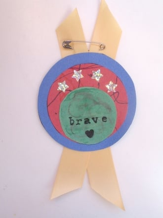 Kindergarten Arts & Crafts Activities: Make a Bravery Badge