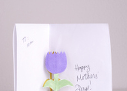 Second Grade Holidays Activities: Make a Flower Pop-up Card for Mom