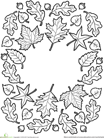 fall mandala - Fall Worksheets For First Grade