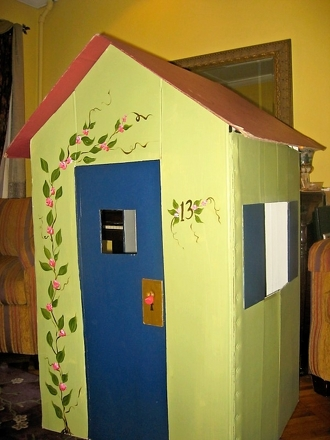Kindergarten Arts & crafts Activities: Cardboard Playhouse