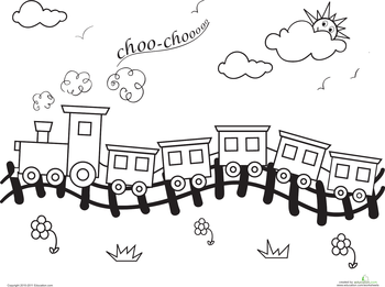 Train Coloring Pages  Educationcom