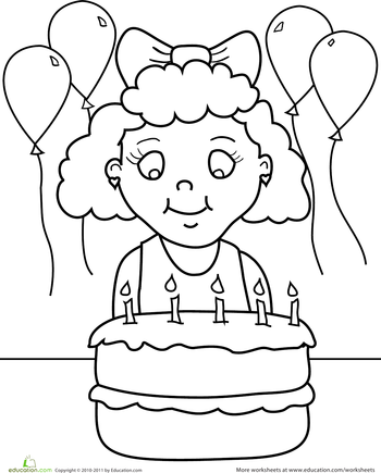 happy birthday coloring pages. Black Bedroom Furniture Sets. Home Design Ideas