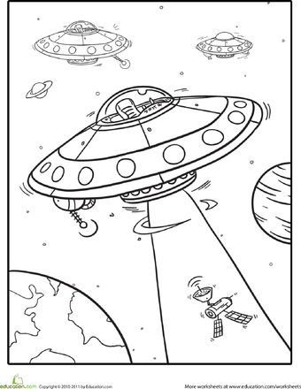 Outer Space Coloring Pages   Education.com